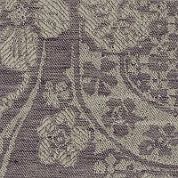 Linen woven with fancy leaves and flowers will make a beautiful addition to any room.
