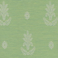 The leaf insignia design of this linen will add breath and structure and make a royal addition to any room.