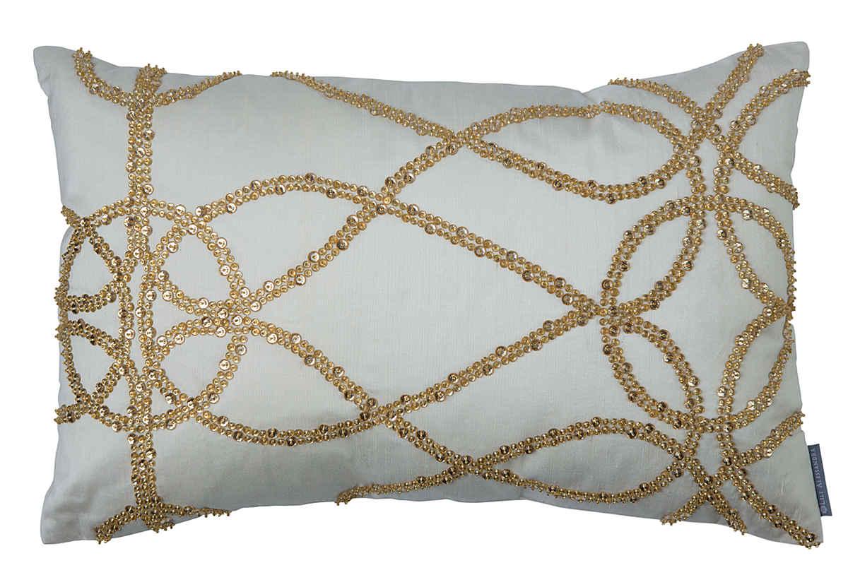 Lili Alessandra Versailles Silver Velvet With Ivory
