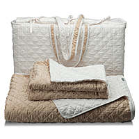 Bedding has the look and feel of silk but is made of 100% polyester