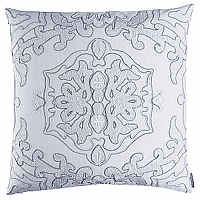 Lili Alessandra Morocco and Taj decorative pillows will dress any bed in White on White elegance.