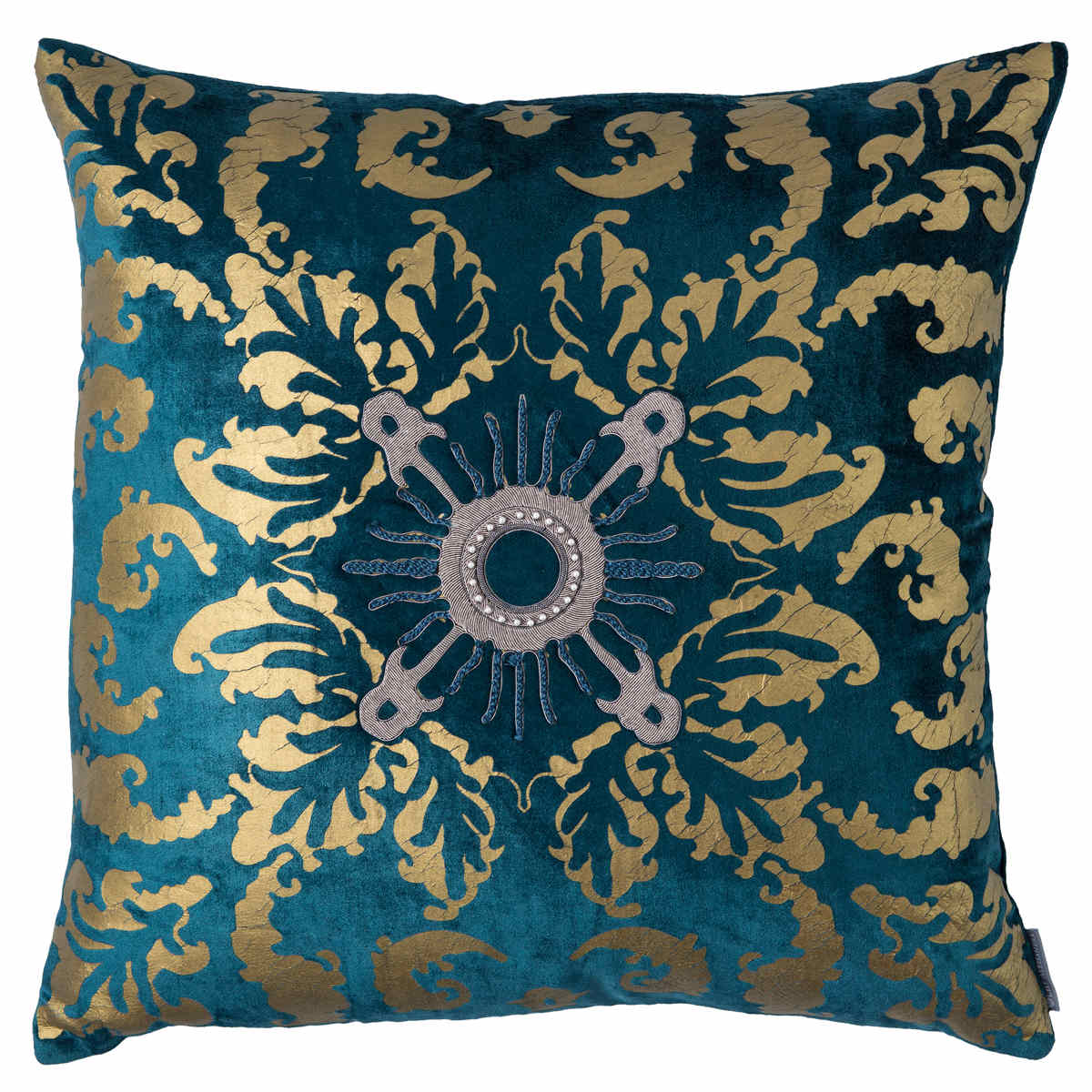 rubelli pillow velvet silvery pillows barberini backed en cover pattern fabric shop with throw fortuny gold apricot orange burnt