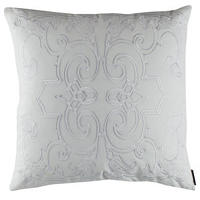 Poetry in motion, elegantly designed pillow, throw and drapery.