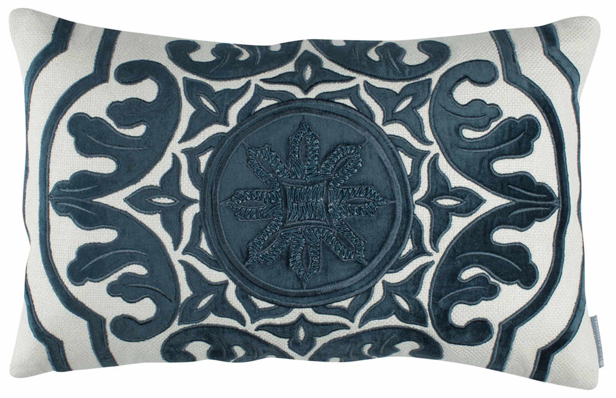 lili alessandra barcelona midnight blue pillows. Black Bedroom Furniture Sets. Home Design Ideas