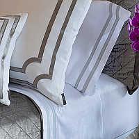 Crisp, Clean, Bold best describes this bedding.