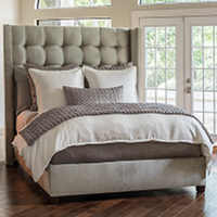 This clean, sophisticated and modern bedding ensemble includes an elegant assortment of duvet and pillows and other contrasting piece including Silk and Sensibility coverlets.