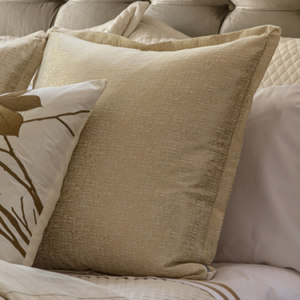 Lili Alessandra Sohia Ivory Linen & Cotton with Gold Lurex Pillow