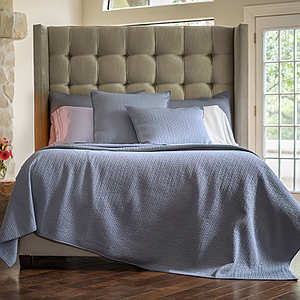 Lili Alessandra Retro Blue S&S Quilted Coverlet