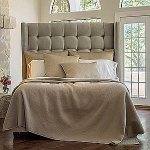 Lili Alessandra Retro Taupe Quilted S&S Pillow