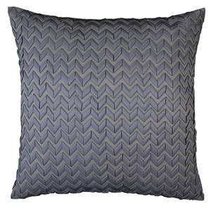 Lili Alessandra Ultra Pewter Quilted Silk & Sensibilty Pillow