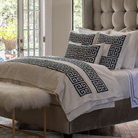 Buy Lili Alessandra  Laurie and Guy bedding with gold embroidery to make a bedroom statement.
