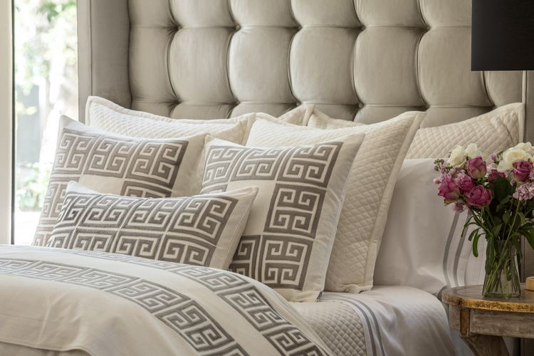 Lili Alessandra Laurie and Guy Platinum Velvet Applique Bedding Collection