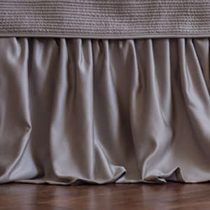 Lili Alessandra Battersea Taupe Sense & Sensibility Gathered Bed Skirt