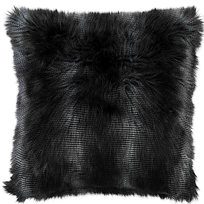 Lili Alessandra Black Faux Fur Pillow