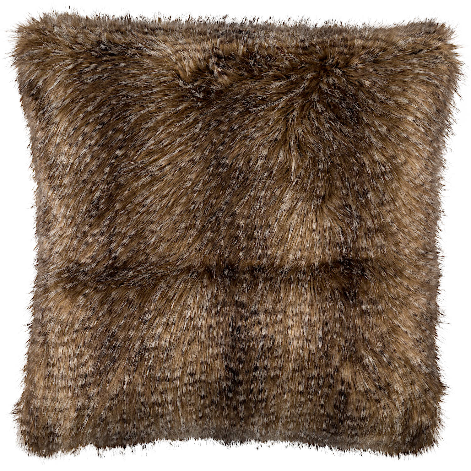Lili Alessandra Chestnut Faux Fur Pillow