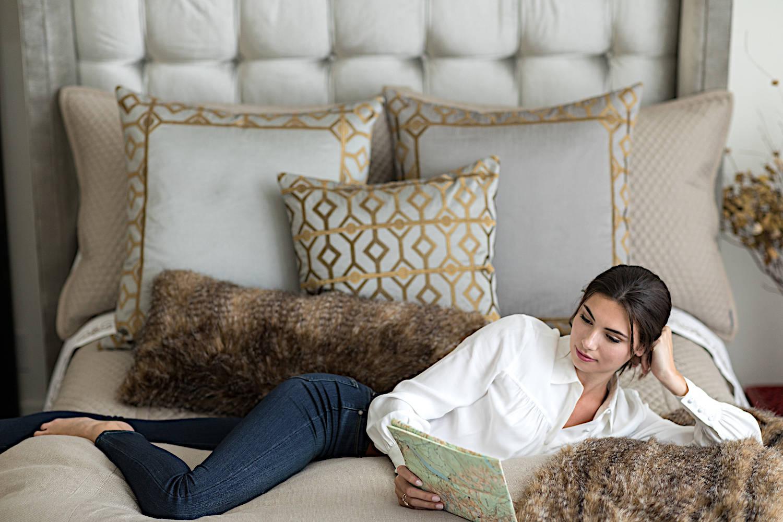 Lili Alessandra Chestnut Faux Fur Pillow