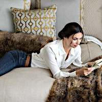 These faux fur pieces, decorative pillows, and throws make beautiful additions with other Lili Allesandra collections.