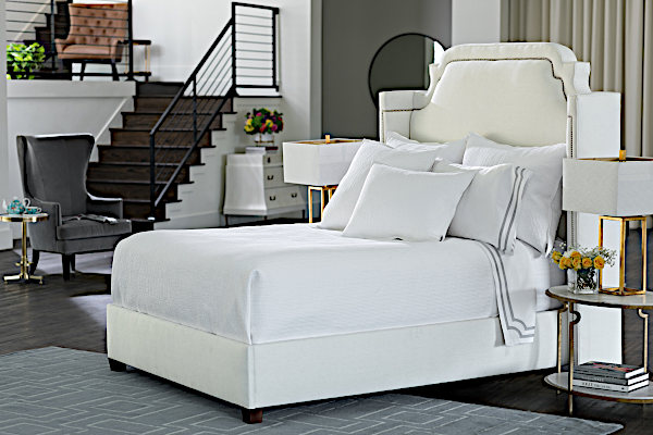 Lili Alessandra Retro White Quilted Bedding