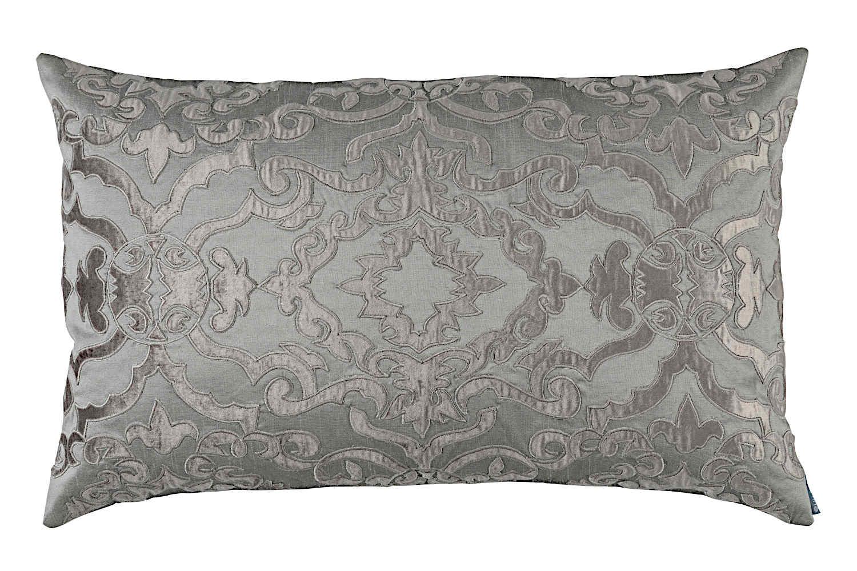 Lili Alessandra Dimitri White Cotton And Pewter Bedding