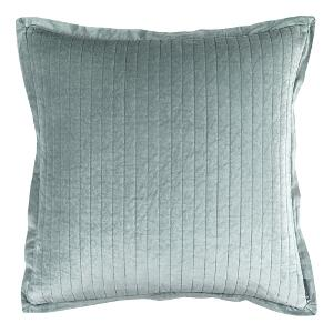 Lili Alessandra ARIA QUILTED EURO PILLOW SKY MATTE VELVET 26X26 (INSERT INCLUDED)