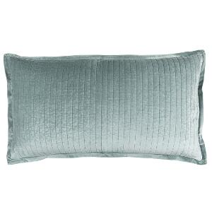 Lili Alessandra ARIA QUILTED KING PILLOW SKY MATTE VELVET 20X36 (INSERT INCLUDED)
