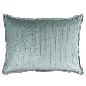 Lili Alessandra ARIA QUILTED LUXE EURO PILLOW SKY MATTE VELVET 27X36 (INSERT INCLUDED)