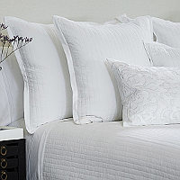 Lili Alessandra Aria White Matte Velvet Coverlets & Blankets & Pillows