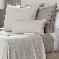 Lili Alessandra Chevron White Cotton Pillows and Blankets