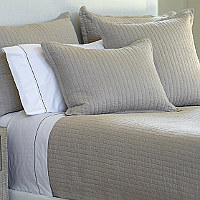 Lili Alessandra Tessa Raffia Linen Coverlets & Pillows