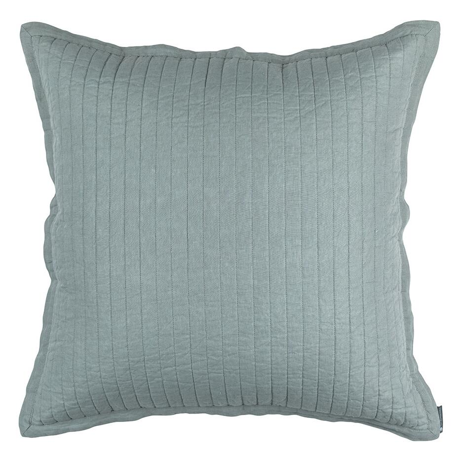 LILI ALESSANDRA TESSA QUILTED EURO PILLOW SKY LINEN 26X26 (INSERT INCLUDED)