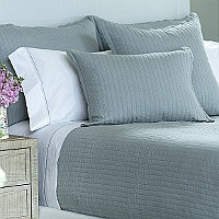 Lili Alessandra Tessa Sky Linen Coverlets & Pillows