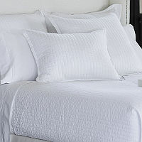 Lili Alessandra Tessa White Linen Coverlets & Pillows