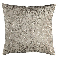 Infuse your home with these silver beads pillows inspired by high fashion jewelry.