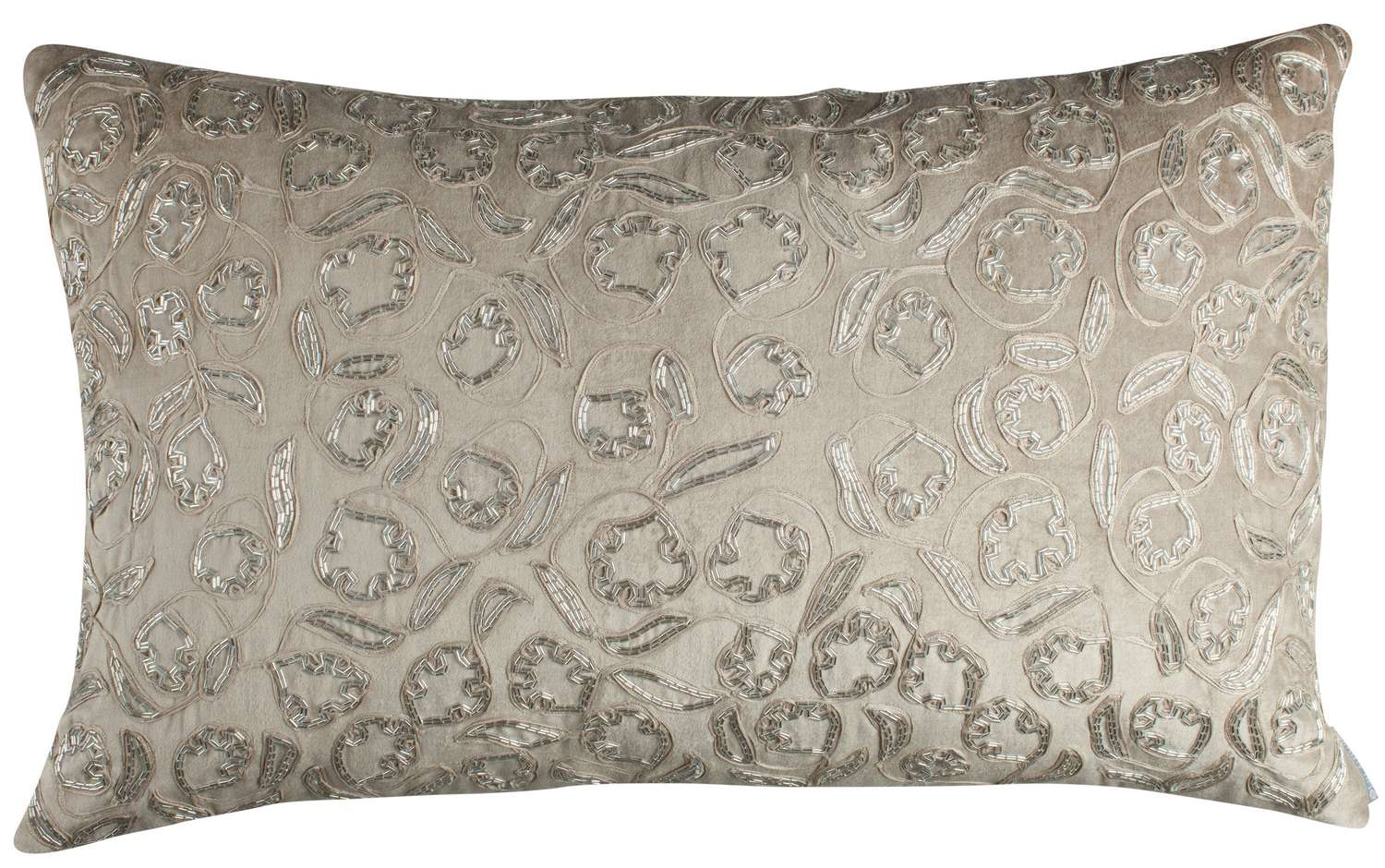 Decorative Pillows With Beads : Lili Alessandra Ellie Accents with Silver Beads Decorative Pillows