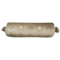 Lili Alessandra Audrey Fawn/Silver Bolster Pillows