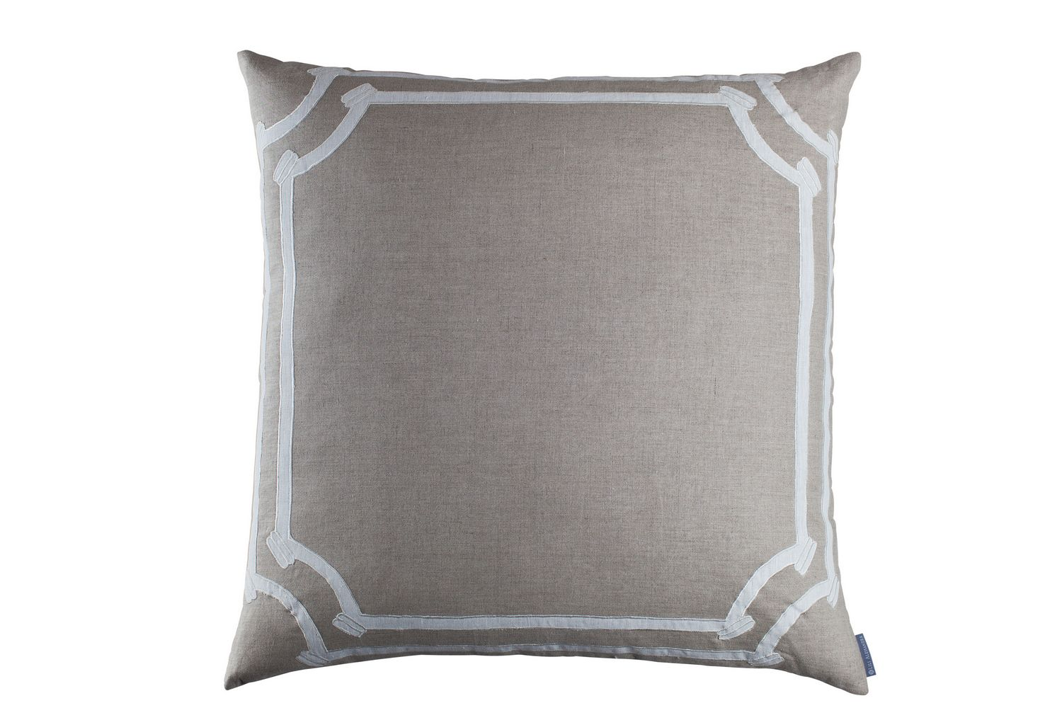 Lili Alessandra Angie Natural/White Linen Rectangle Pillow