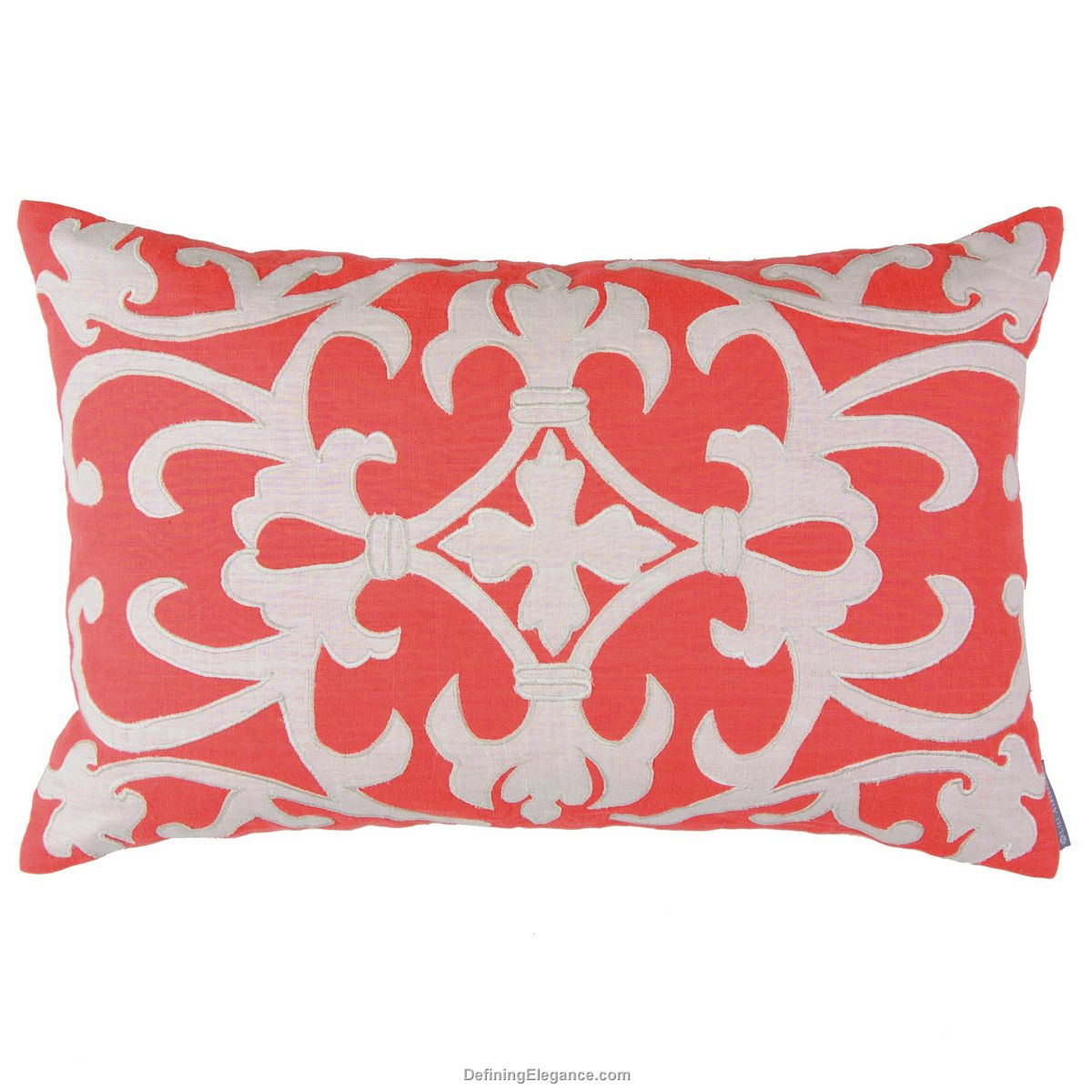 ~Lili Alessandra Coral Linen with White Pillows