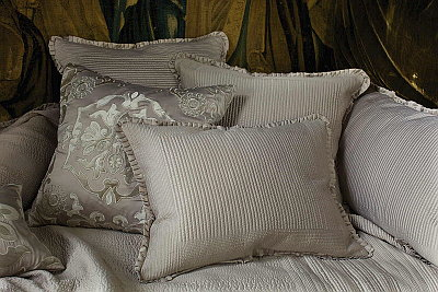 Lili Alessandra  Lili Alessandra Battersea Quilted Bedspread Taupe Collection