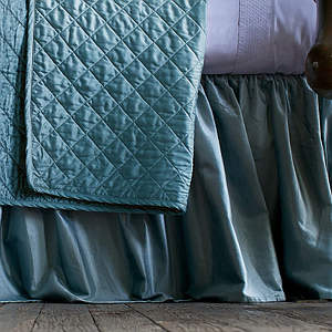 Lili Alessandra Chloe Seafoam Gathered Bed Skirt