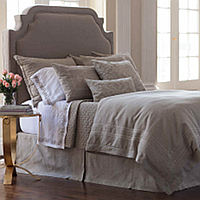 Earthy, natural, neutral describes this bedding.