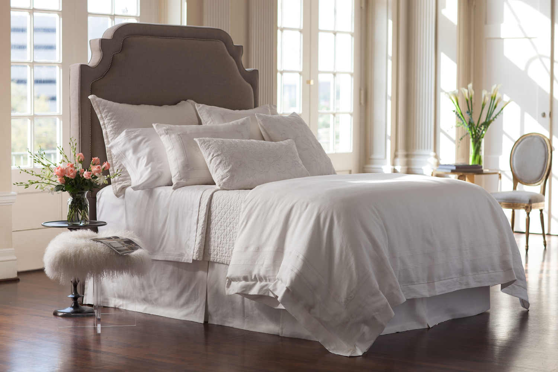 Lili Alessandra Casablanca White Linen With White Linen