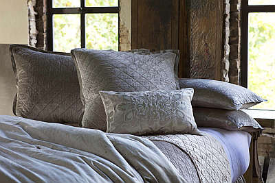 Lili Alessandra Chloe Diamond Quilted Fawn Velvet Coverlet Collection