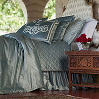 Lili Alessandra Chloe Ice Blue Bedding will give any room an upscale look.
