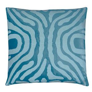 Lili Alessandra Zebra Seafoam Pillows