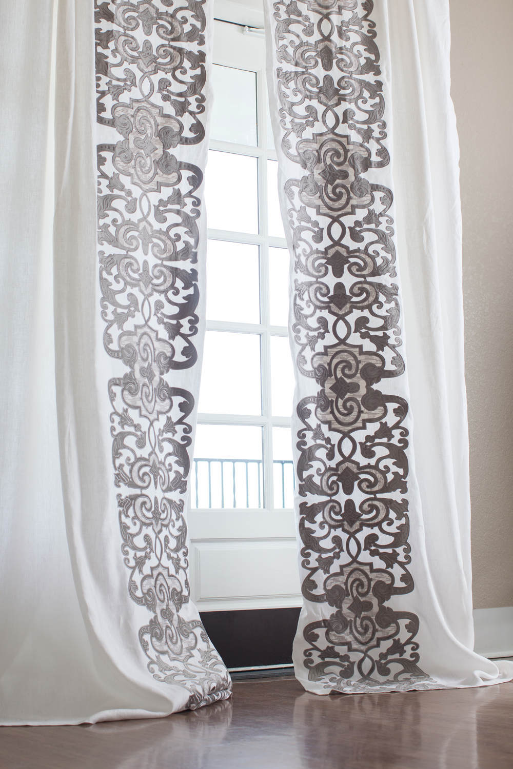 sheer panel revibe drapery designs products curtain curtains smocked ivory panels top