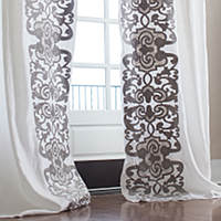 Featuring custom and stocked drapery panels with distinctive patterns designed and manufactured by Lili Alessandra.