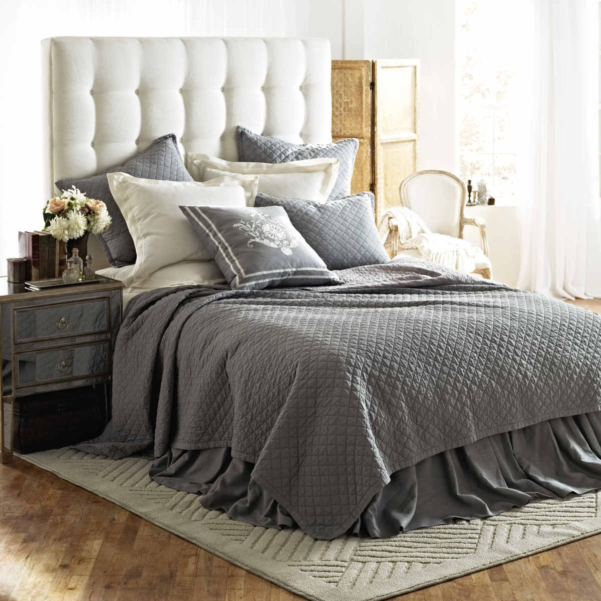 Discontinued Lili Alessandra Emily Diamond Quilted Bedding