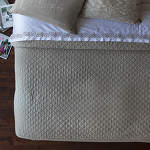 Lili Alessandra Emily Stone Linen Diamond Quilted Coverlet - D