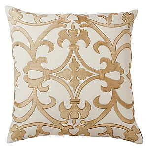 Lili Alessandra Olivia Square Ivory/Champagne Pillow