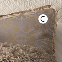 Lili Alessandra Jackie In Luxurious Silk/Tencel Fabric in Champagne with Silver Jacquard Standard/King Pillow